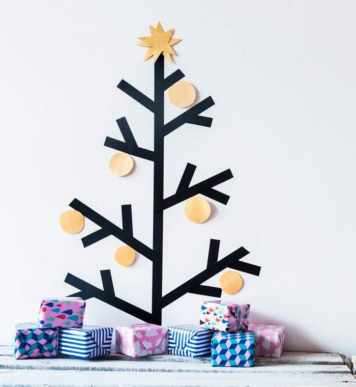 washi tape alternative christmas tree