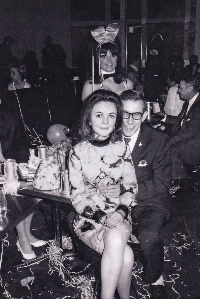 vintage photo new year celebration