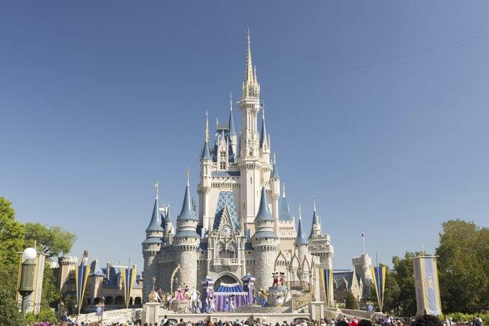 Mandatory Credit: Photo by imageBROKER/Shutterstock (3454621a) Cinderella Castle in the Magic Kingdom, Walt Disney World Resort VARIOUS