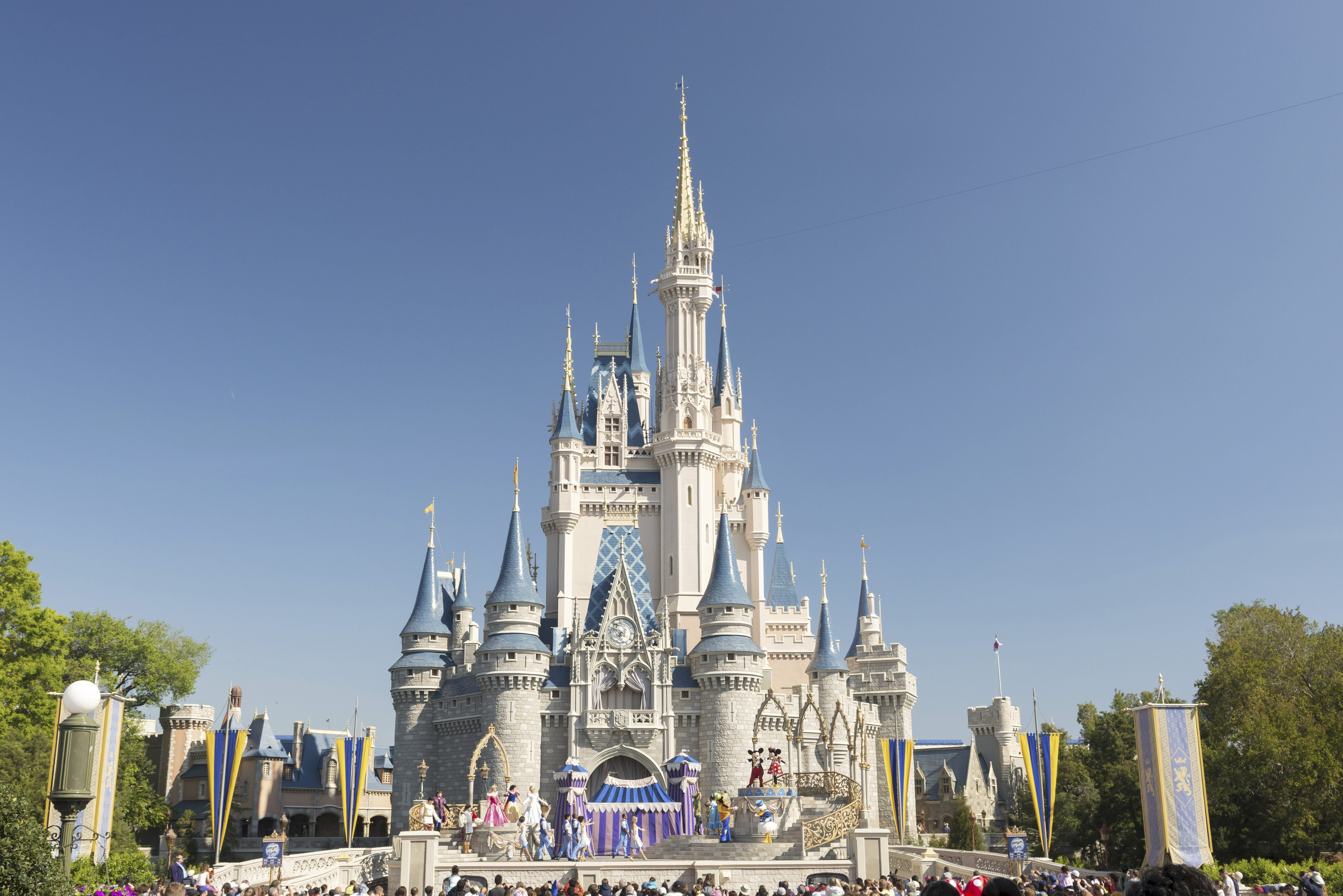 Mandatory Credit: Photo by imageBROKER/Shutterstock (3454621a) Cinderella Castle in the Magic Kingdom, Walt Disney World Resort VARIOUS