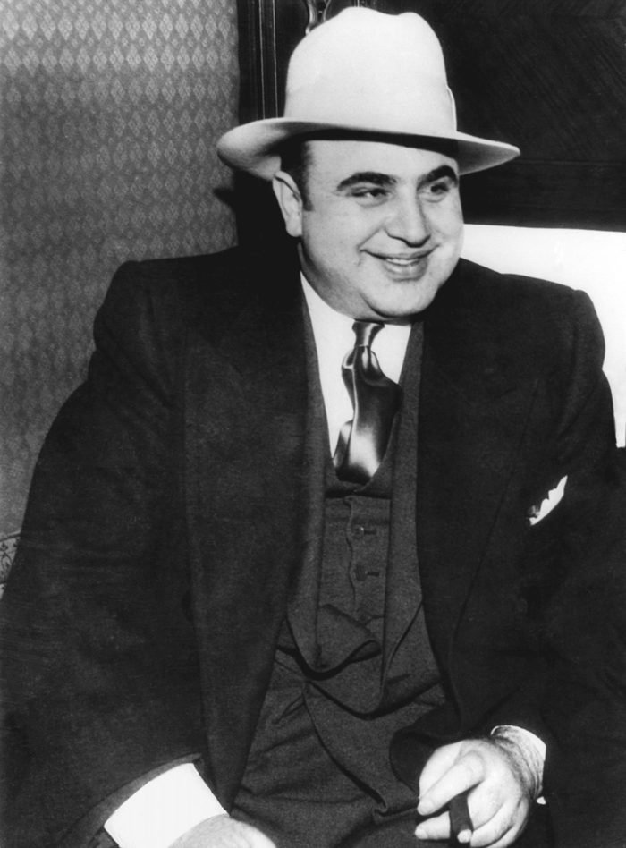 Mandatory Credit: Photo by Underwood Archives/UIG/Shutterstock (3838110a) Chicago, Illinois: January 1, 1930. A portrait of American gangster, Al Capone. VARIOUS