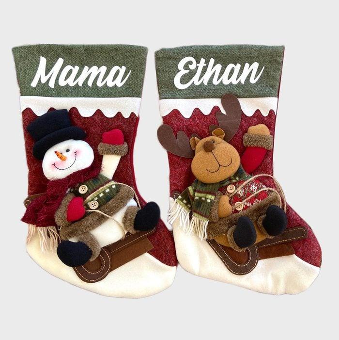 3d Christmas Stockings Via Etsy