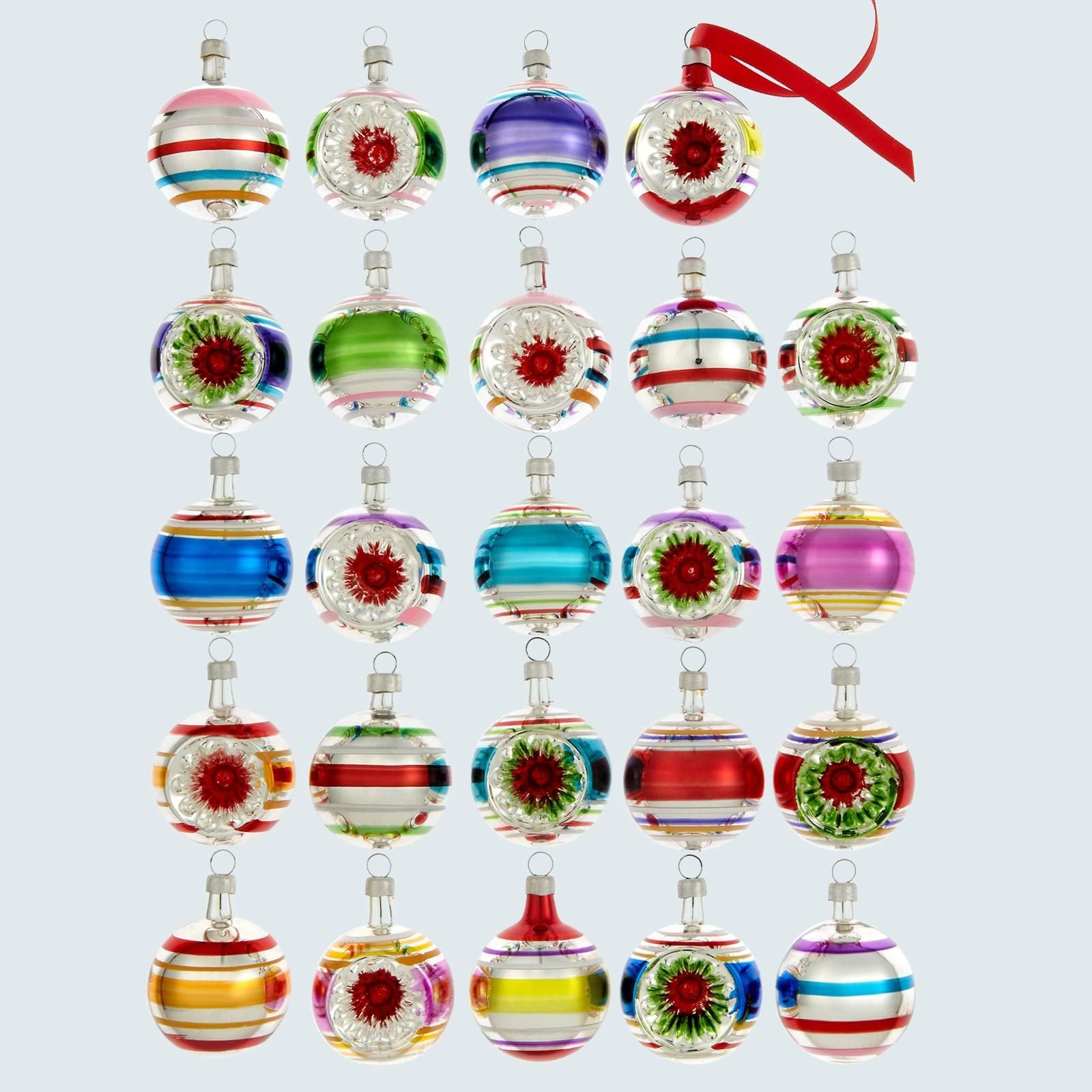 Glass mini ornaments