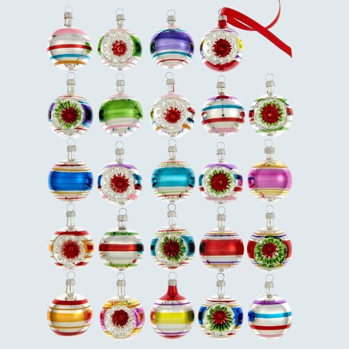 Glass mini ornaments