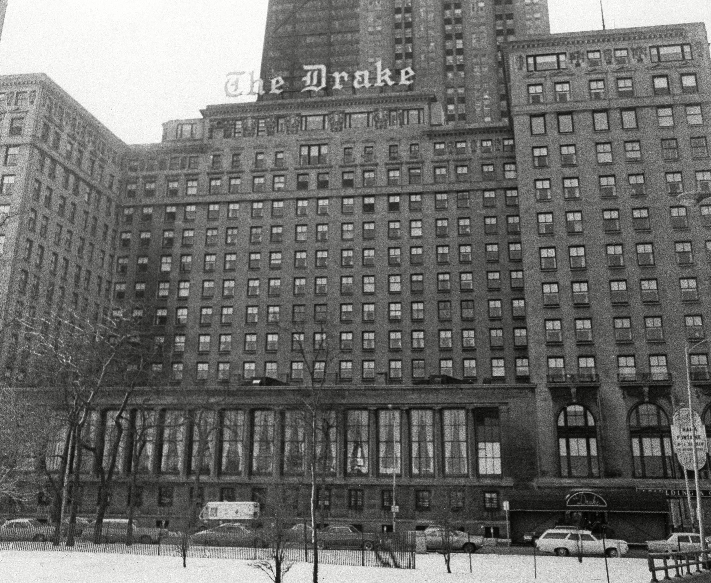 Mandatory Credit: Photo by Jim Palmer/AP/Shutterstock (5956175a) This is the Drake Hotel in Chicago, shown . Georges Pompidou, the French president will be staying here during his visit Feb. 28-March 1 Drake Hotel, Chicago, USA