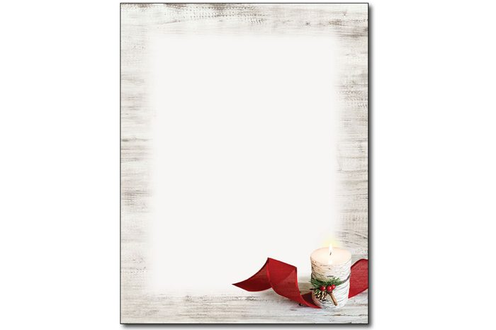 birch candle holiday letterhead paper