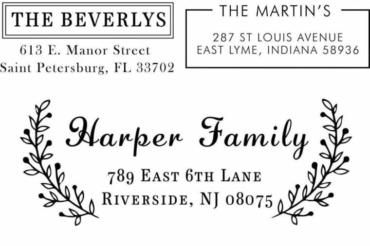 personalized address stamp