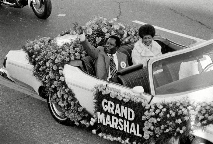 Hank Aaron baseball grand marshal rose parade