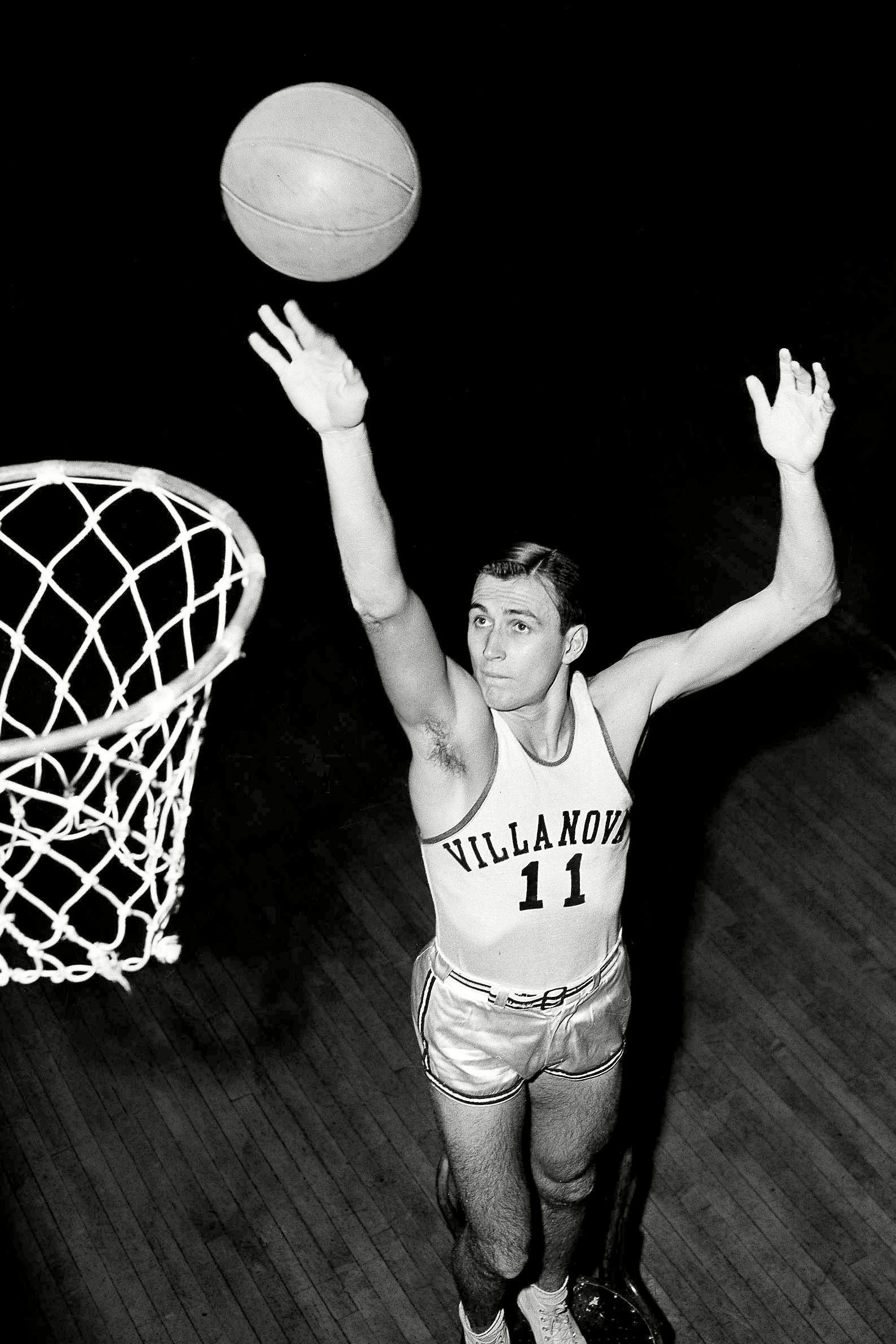 Mandatory Credit: Photo by Anonymous/AP/Shutterstock (6666981a) Paul Arizin Paul Arizin of Villanova shown, topped the voting in the 1950 Associated Press All-America collegiate basketball team. Arizin, top scorer in the country for major schools, was second in the voting. Location unknown Paul Arizin, USA