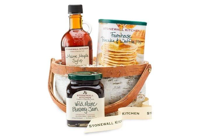 stonewall kitchen birch breakfast basket gift