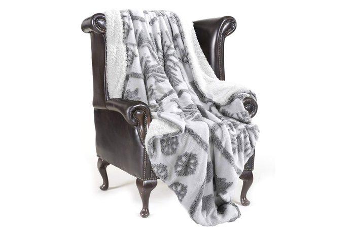 snowflake throw blanket