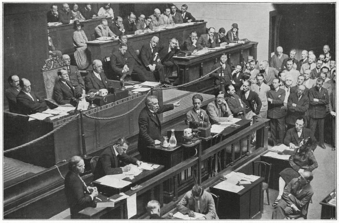 Mandatory Credit: Photo by Historia/Shutterstock (7665167zd) The League of Nations Geneva Aristide Briand Delivers A Discourse Favouring Peace 1929 Historical Collection 94
