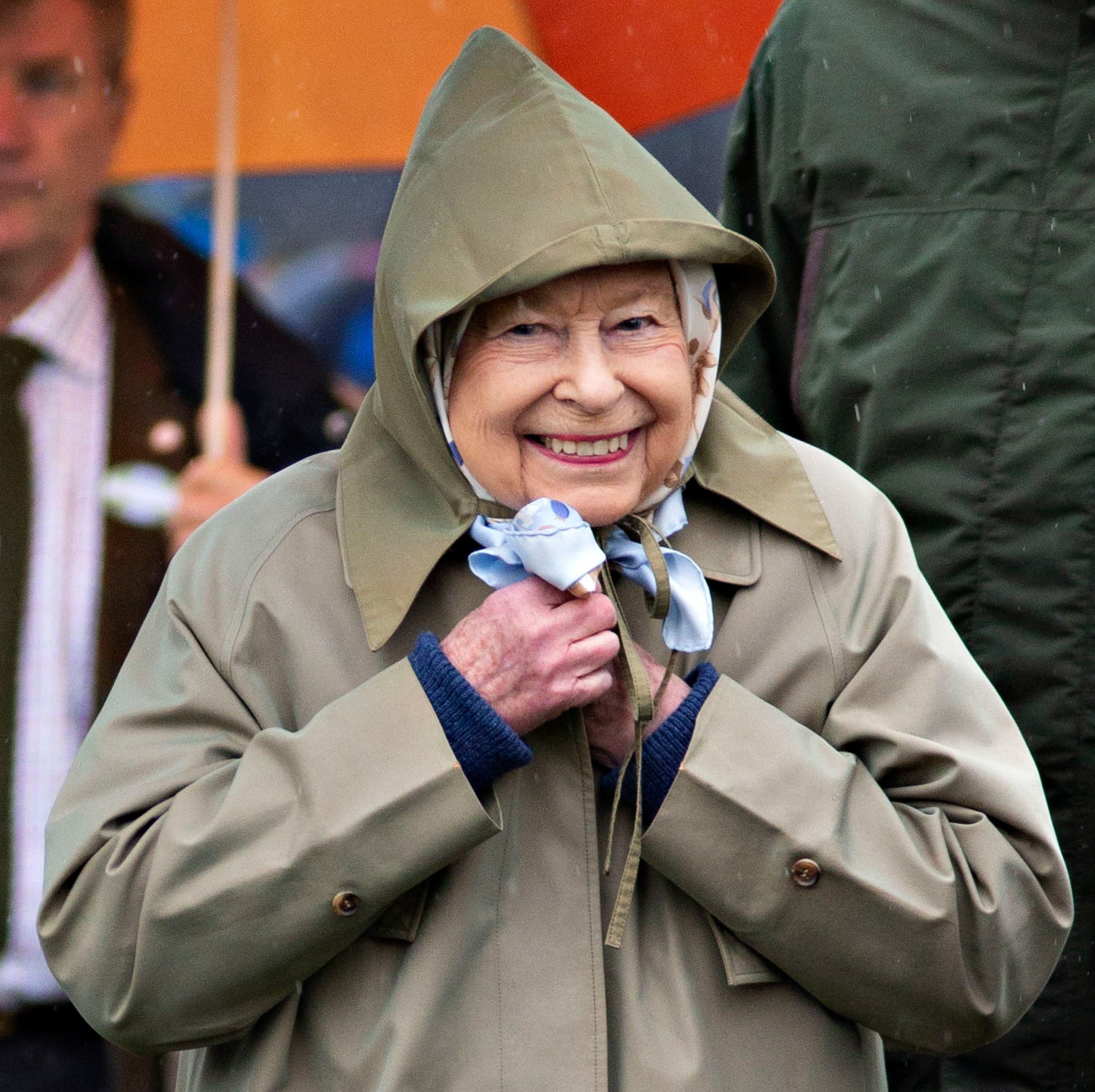 Mandatory Credit: Photo by DAVID HARTLEY/Shutterstock (10231429g) Queen Elizabeth II leaves after watching her horses in the 4 Year Old Hunter Class 76th Royal Windsor Horse Show, Windsor, Berkshire, UK - 08 May 2019