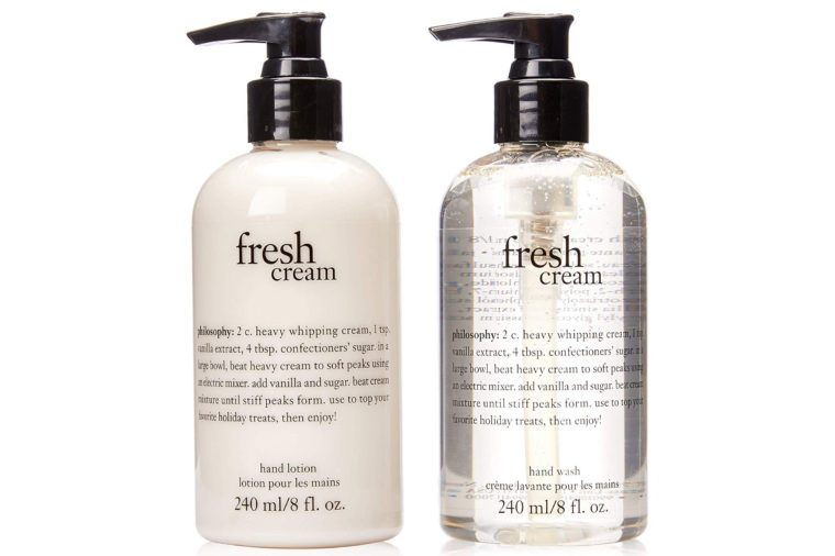 philosophy fresh cream hand soap and lotion set