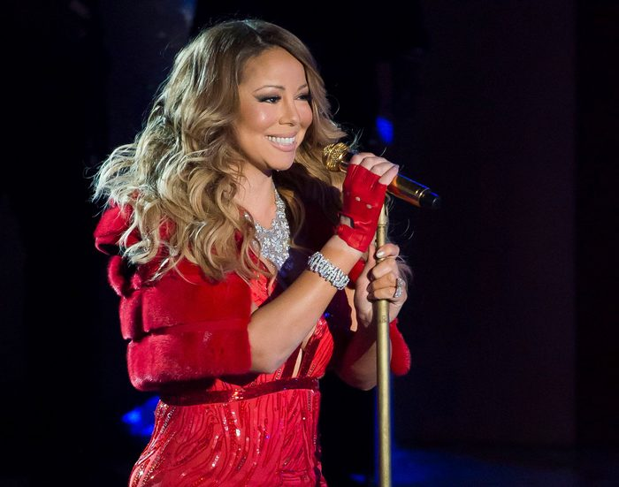 Mandatory Credit: Photo by Charles Sykes/Invision/AP/Shutterstock (9167063a) Mariah Carey performs at the 82nd Annual Rockefeller Center Christmas tree lighting ceremony in New York. Caesars Palace announced, that the pop icon would launch a residency May 16 at The Colosseum in Las Vegas. Carey has announced 18 performances so far Music-Mariah Carey, New York, USA
