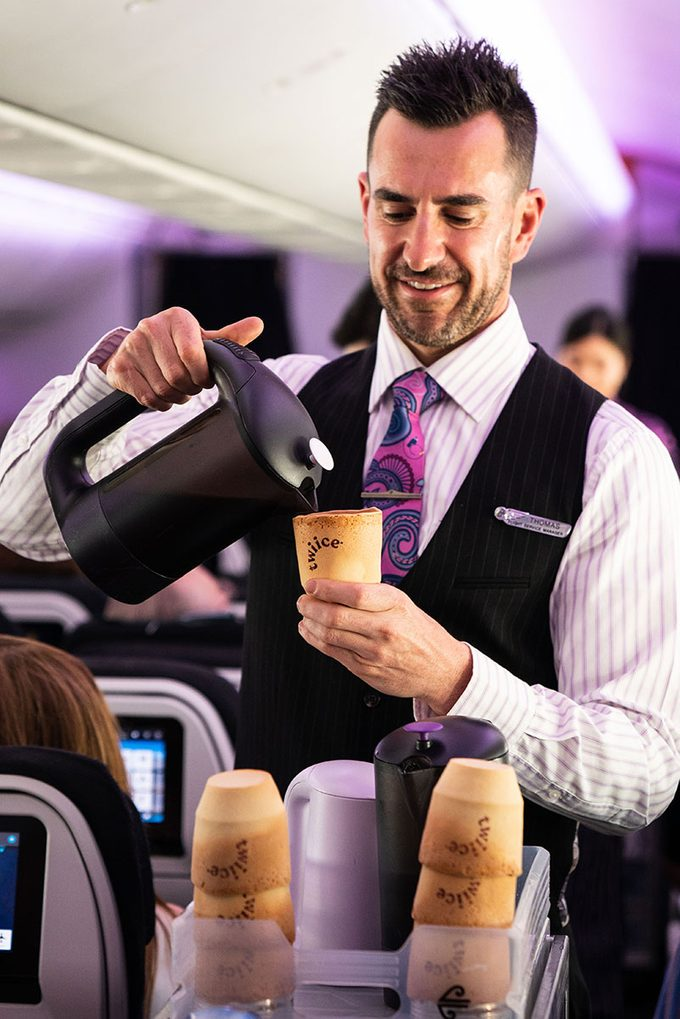 air new zealand edible coffee cups