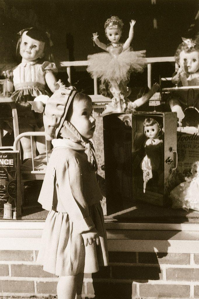 vintage christmas shopping photo
