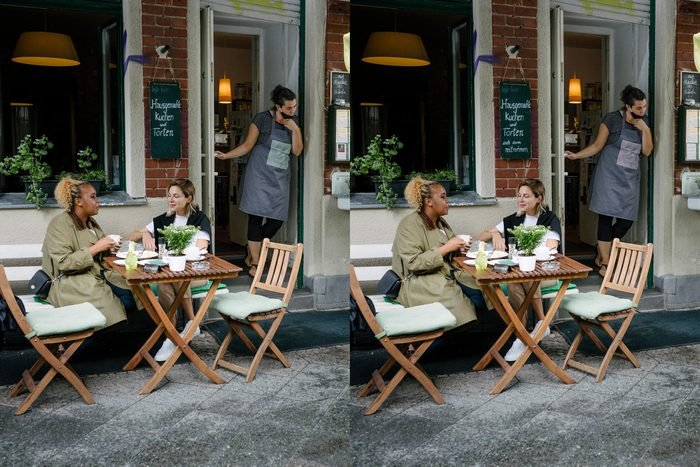 Find The Differences cafe scene