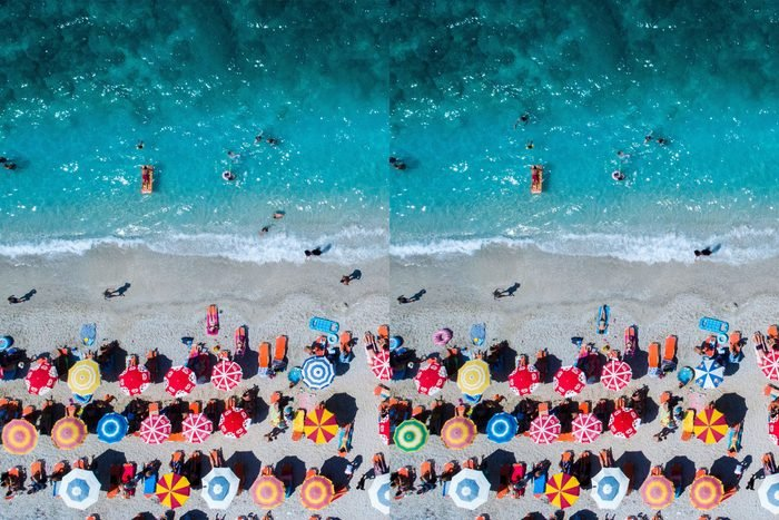 Find The Differences beach scene from overhead
