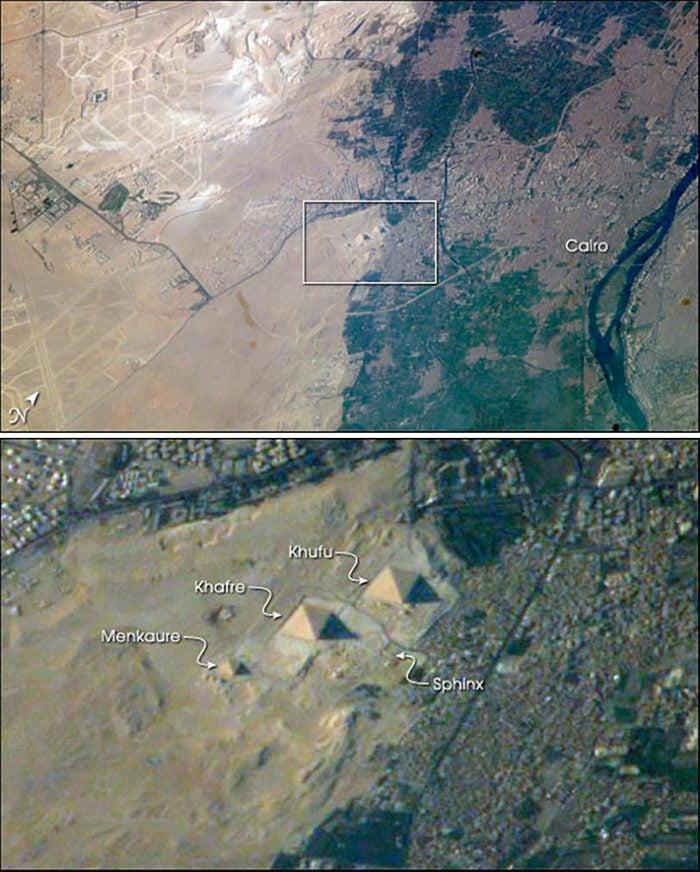 great pyramid of giza from space nasa