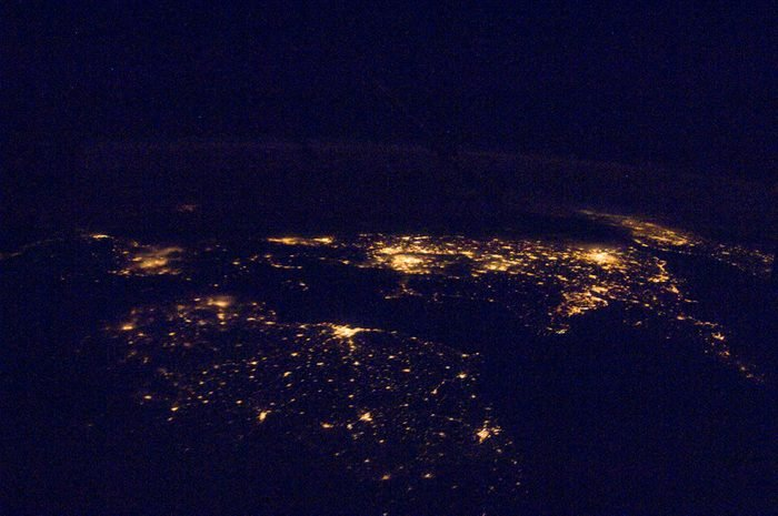 lights from cities at night from space nasa