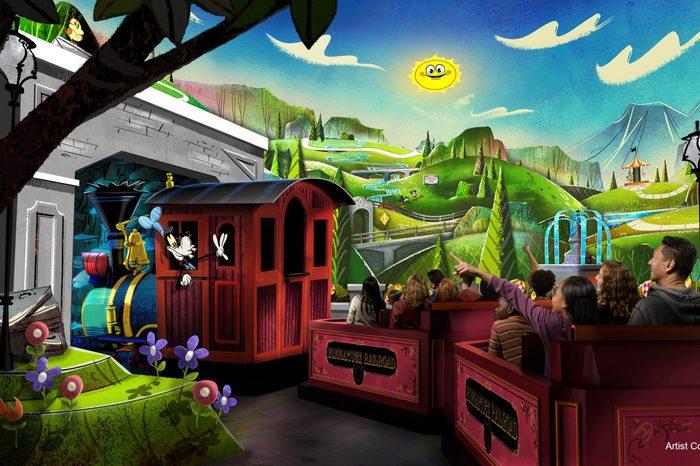 mickey and minnie railroad