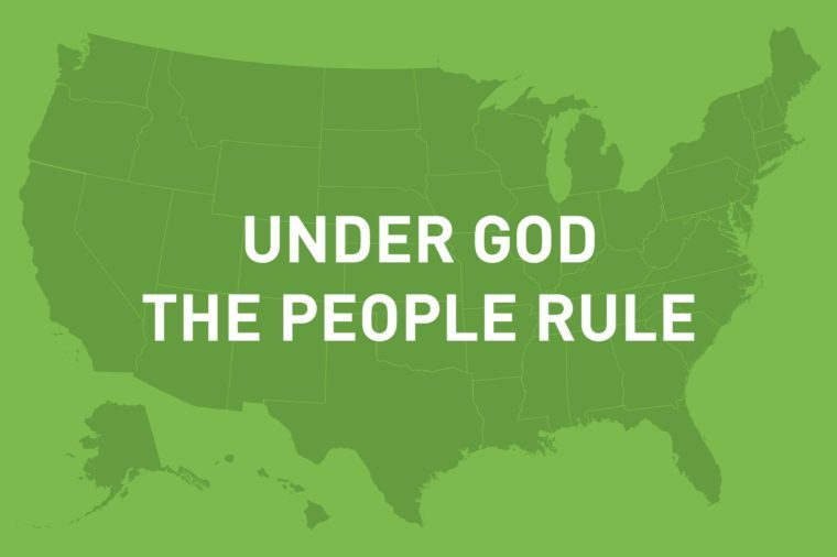 under god the people rule