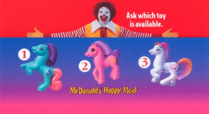 my little pony happy meal toy