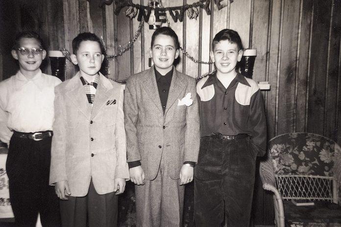 vintage new years photo celebration