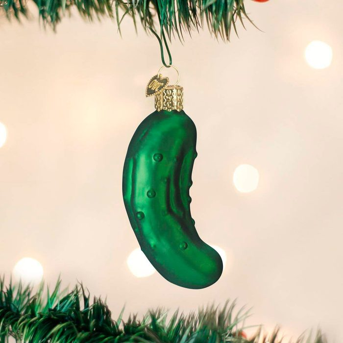 Pickle christmas ornament