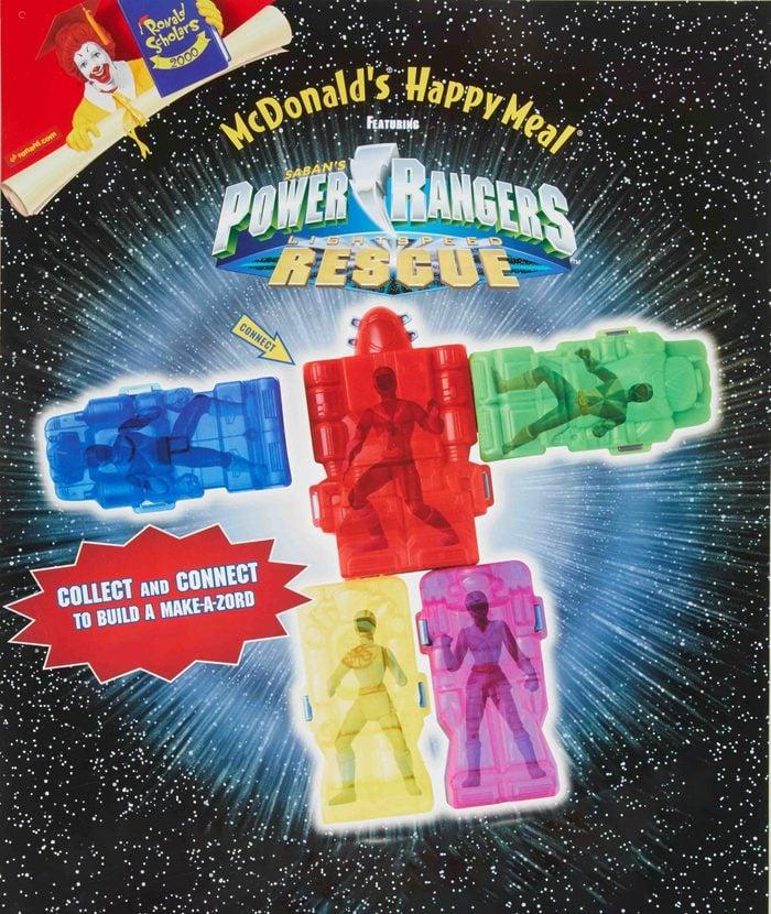 mcdonald's power rangers happy meal toy