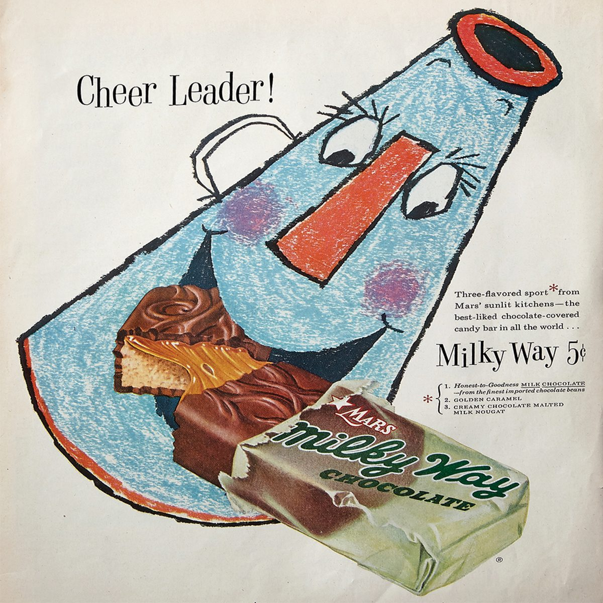 vintage ad for milky way candy