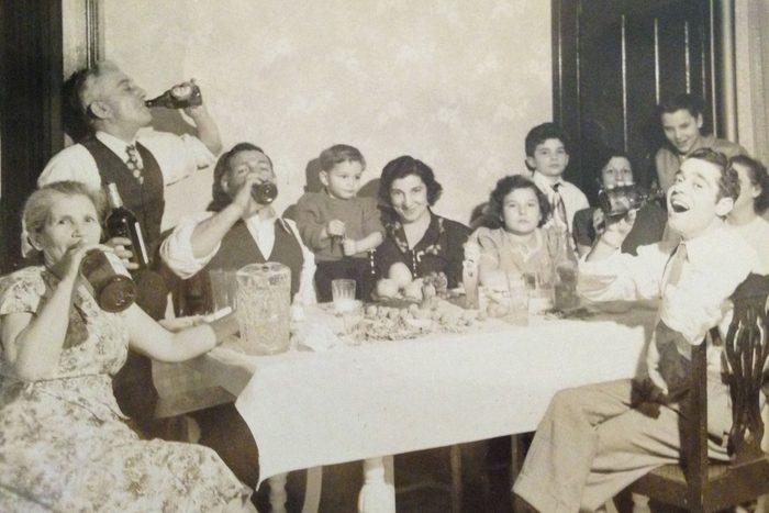 vintage photo new year's celebrations