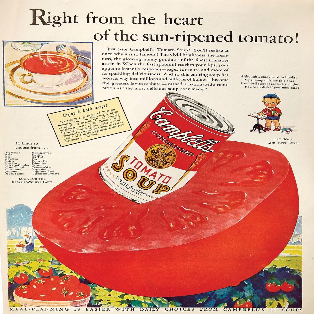 vintage ad for campbell's tomato soup