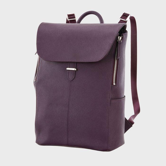 Samsonite Executive Leather Flap Backpack