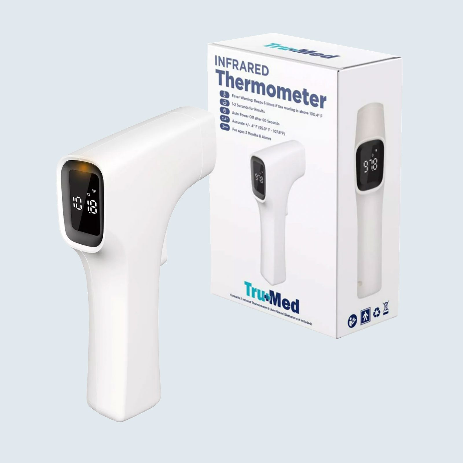 Tru+Med Touch-Free Infrared Thermometer