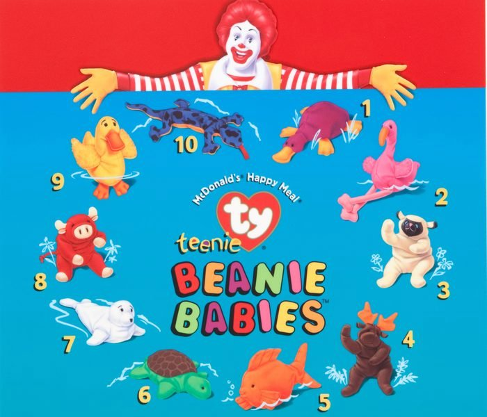 beanie babies mcdonald's happy meal toy