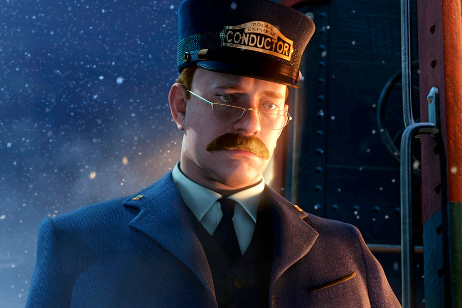 Tom Hanks as the Conductor in The Polar Express