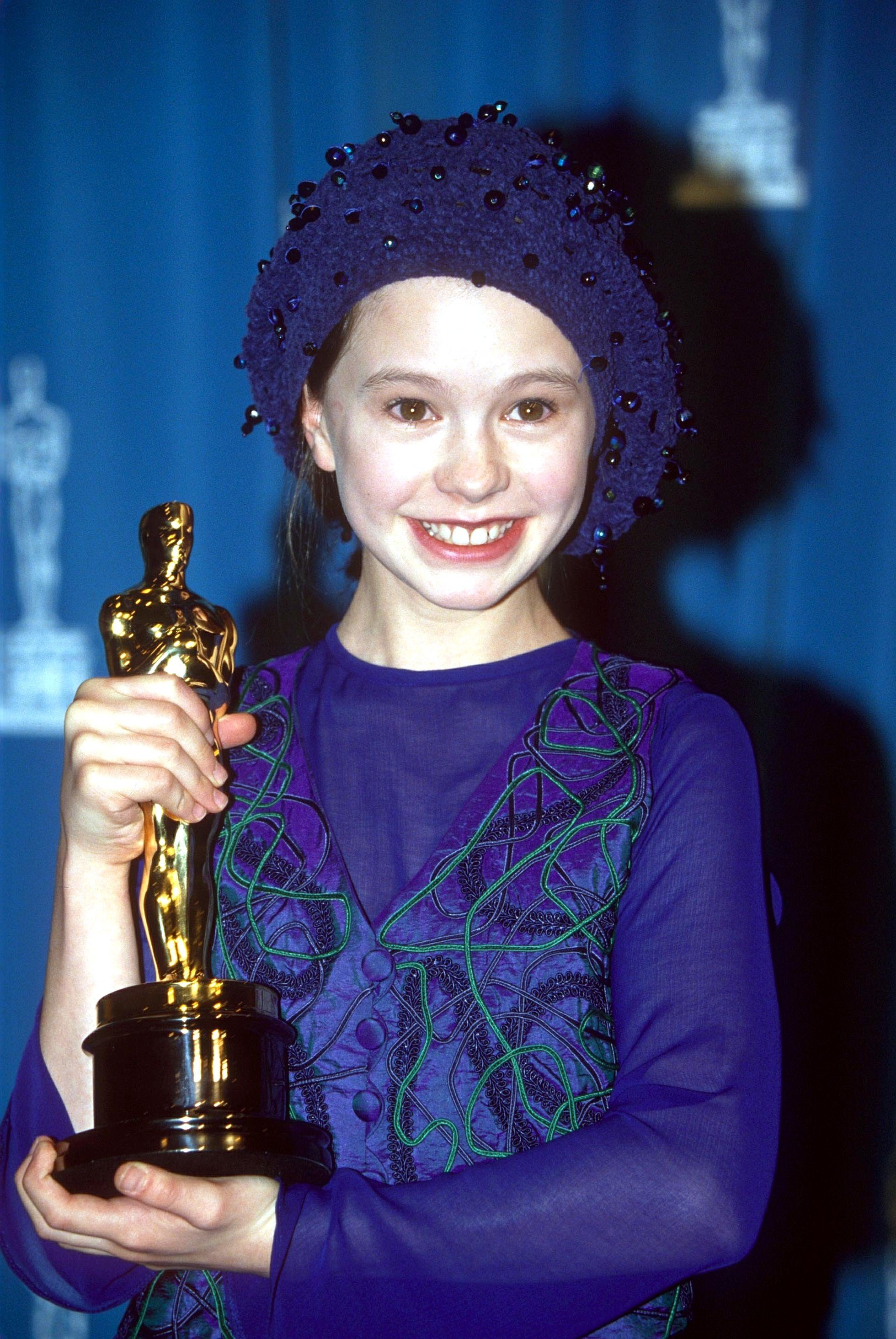 Mandatory Credit: Photo by Shutterstock (227245ad) ANNA PAQUIN ACADEMY AWARDS, LOS ANGELES, AMERICA - 1994