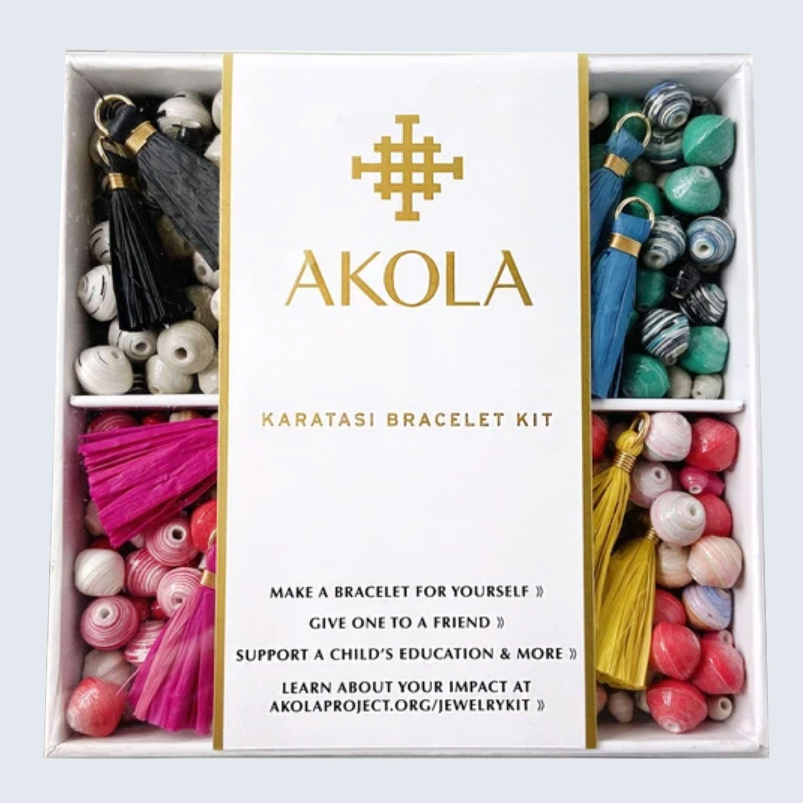 Akola Karatasi DIY Bracelet Kit in Rainbow