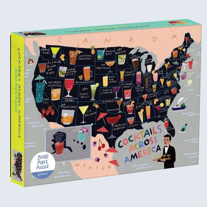 Galison Anne Bentley Cocktails Across America Jigsaw Puzzle