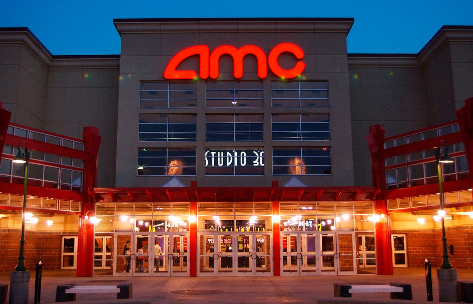 Mandatory Credit: Photo by Orlin Wagner/AP/Shutterstock (9722749a) AMC STUDIO 30. People enter AMC's Studio 30 theater in Olathe, Kan. AMC Theatres, the world's largest movie theater chain, has unveiled a $20-a-month subscription service to rival the flagging MoviePass. The theater chain on Wednesday announced a new service to its loyalty program, AMC Stubs, allowing subscribers to see up to three movies a week for a monthly fee of $19.95 AMC Theatres Subscription Service, OLATHE, USA - 11 May 2005