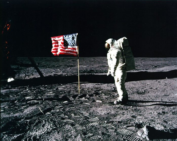 MANDATORY CREDIT: NASA/REX Shutterstock Mandatory Credit: Photo by NASA/Shutterstock (3683583d) Buzz Aldrin salutes the U.S. Flag Apollo 11 Moon landing mission - 1969 FULL COPY: http://www.rexfeatures.com/nanolink/re3u A team of NASA-funded scientists has solved an enduring mystery from the Apollo missions to the moon – the origin of organic matter found in lunar samples returned to Earth. Samples of the lunar soil brought back by the Apollo astronauts contain low levels of organic matter in the form of amino acids. Certain amino acids are the building blocks of proteins, essential molecules used by life to build structures like hair and skin and to regulate chemical reaction.