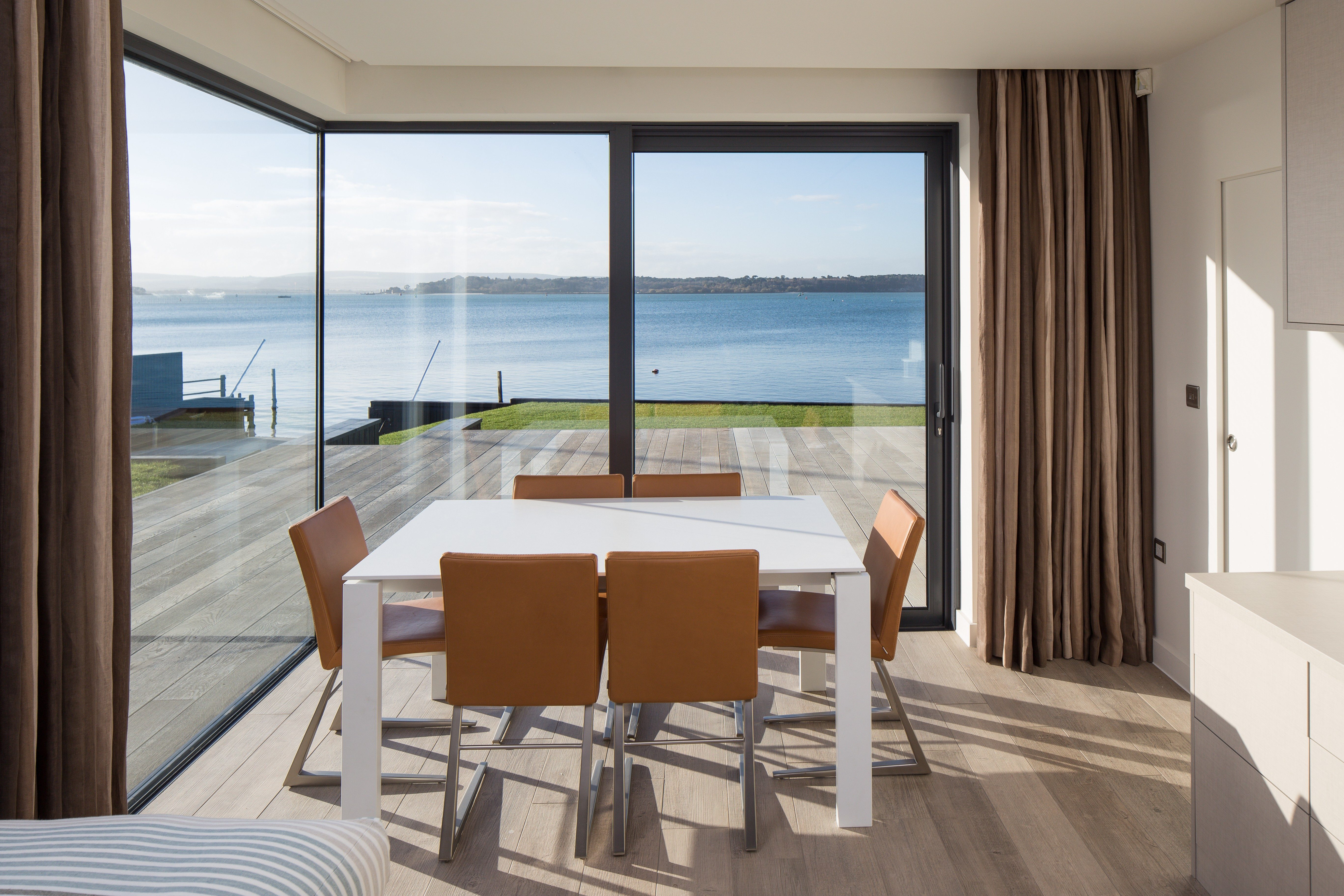 Dining Room on Waterfront Dorset UK