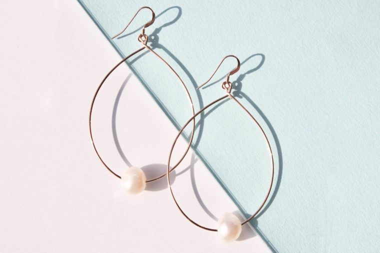 delicora pearl street hoop earrings