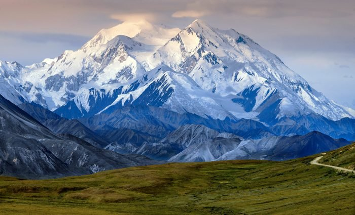 Denali (also known as Mount McKinley, its former official name) is the highest mountain in North America at 20,310ft. Located in Denali National Park and Preserve, Alaska, USA.