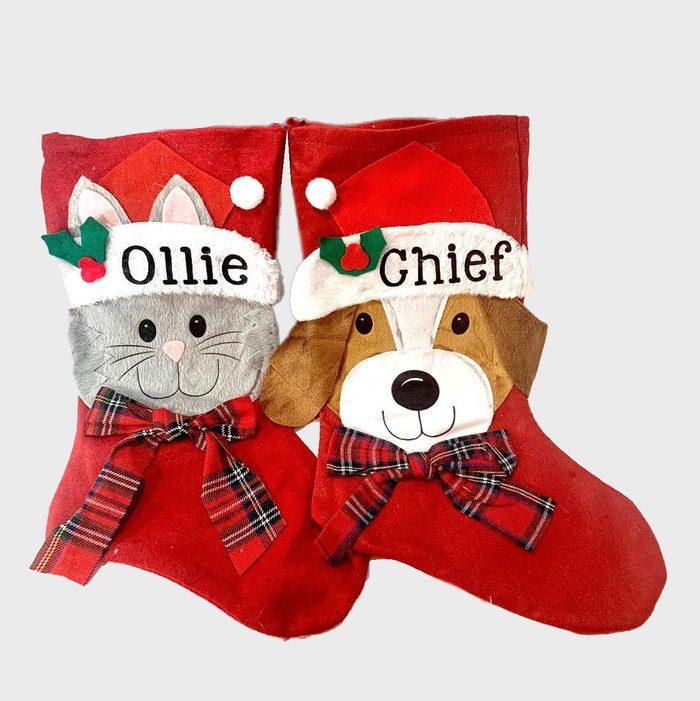 Dog And Cat Christmas Stockings Via Etsy