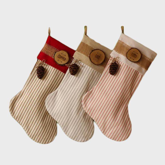 Farmhouse Personalized Christmas Stockings Via Etsy