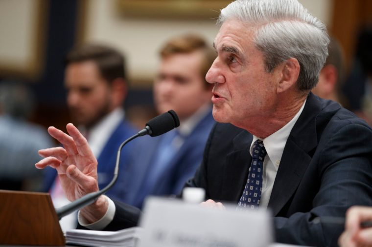 Former Special Counsel Robert Mueller testifies before the House Intelligence Committee during a much-anticipated hearing about Russian interference into the 2016 election, and possible efforts by President Trump to obstruct Mueller's investigation, in the Rayburn House Office Building in Washington, DC, USA, 24 July 2019. The former FBI director and author of the Mueller Report will face lawmakers for five hours in back to back hearings. 24 Jul 2019