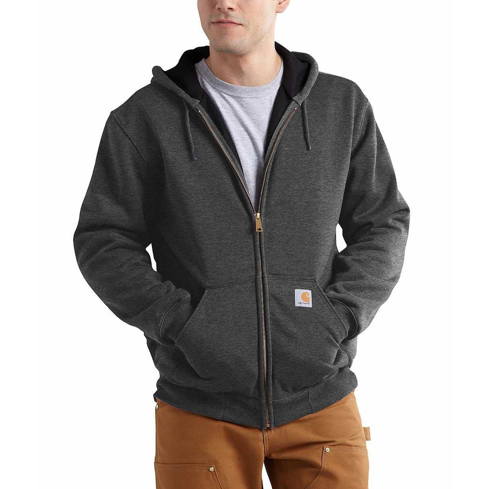gray zip-up hoodie